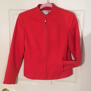 Vintage red zip up topper jacket